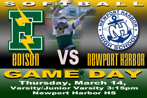Game Day-Thursday, March 14, 2019, Edison vs Newport Harbor